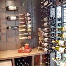 Contemporary Wine Cellar by Blue Grouse Wine Cellars