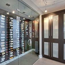 Modern Wine Cellar by Blue Grouse Wine Cellars