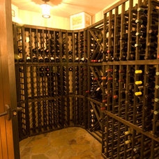 Contemporary Wine Cellar by dC Fine Homes & Interiors