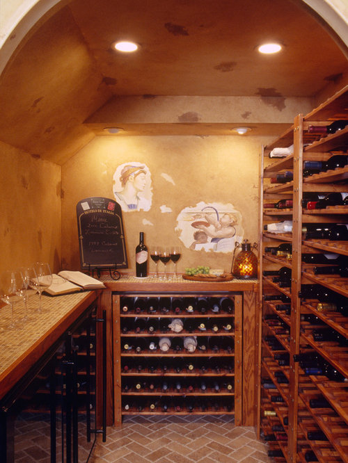 Walk In Wine Cellar Houzz