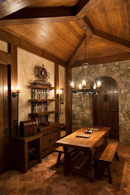 Rustic Wine Cellar by Morgan-Keefe Builders, Inc.