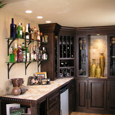 Eclectic Wine Cellar by GEOWEN Custom Carpentry, Inc