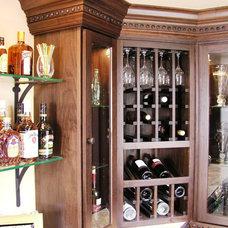 Eclectic Wine Cellar by GEOWEN Custom Carpentry, Inc