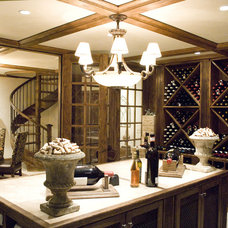 Traditional Wine Cellar by Erik Johnson and Associates