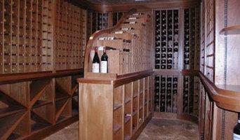 Water fall wine display