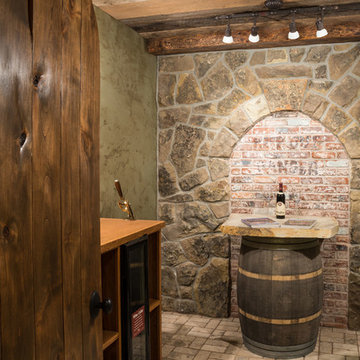 Water tower inspired home wine cellar 1