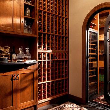 Wayzata Custom Traditional Wine Cellar