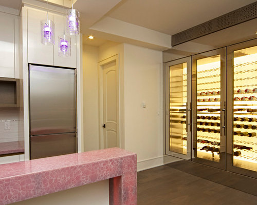 West 19th - Backlit LED Stainless Steel Custom Wine Fridge