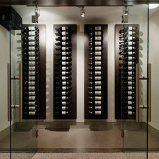 Modern Wine Cellar by Capstone Custom Homes