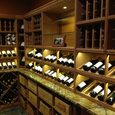 Traditional Wine Cellar by Signature Wine Cellars
