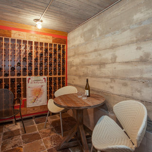 Inspiration for an industrial wine cellar remodel in Los Angeles