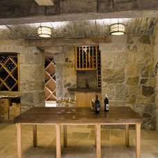 Transitional Wine Cellar by SLC Interiors
