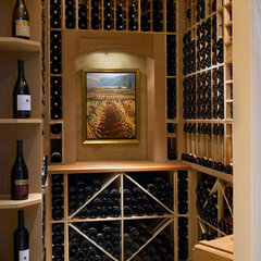 contemporary wine cellar by Claudia Leccacorvi