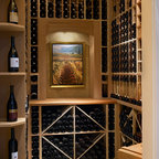 A Passion for Wine - Contemporary - Wine Cellar - Ottawa - by Design First Interiors