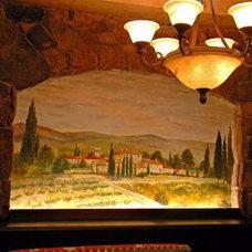 Mediterranean Wine Cellar by Sanders Design