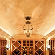 Traditional Wine Cellar by Murphy & Co. Design