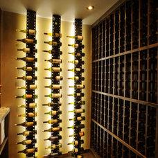 Contemporary Wine Cellar by Amaron Folkestad GC Steamboats Builder