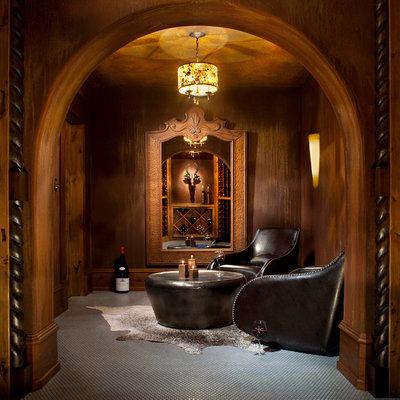 Mediterranean Wine Cellar by Locati Architects