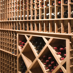 contemporary wine cellar by Studio William Hefner