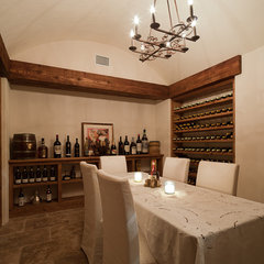 contemporary wine cellar by William T Baker