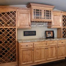 Mediterranean Wine Cellar by Belman Homes