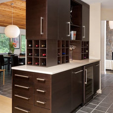 Contemporary Wine Cellar WINE BAR IN KITCHEN