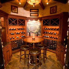 Eclectic Wine Cellar by RVP Photography