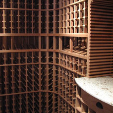 Traditional Wine Cellar by Alfonso and Harmon Architects