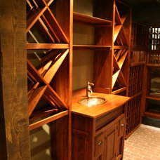 Eclectic Wine Cellar by 60nobscot Home