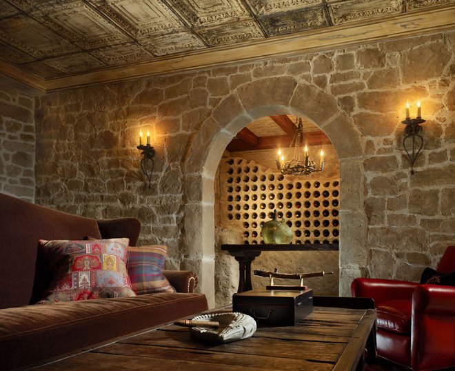 Traditional Wine Cellar by Adeeni Design Group