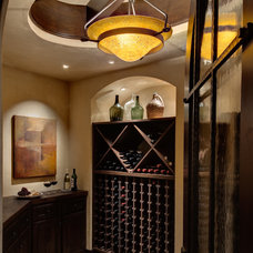 Mediterranean Wine Cellar by Alison Whittaker Design, Inc.