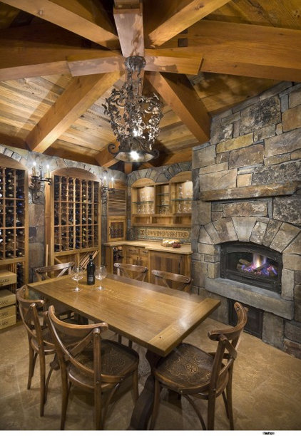 traditional wine cellar by Ward-Young Architecture & Planning