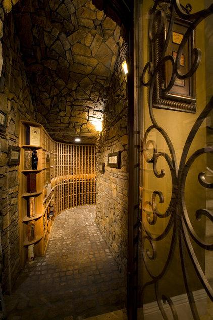 Mediterranean Wine Cellar by Pinnacle Architectural Studio