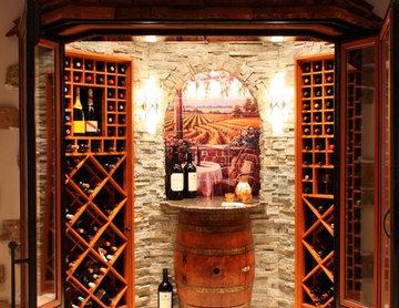 Wine Cellar Art On Tile Mural