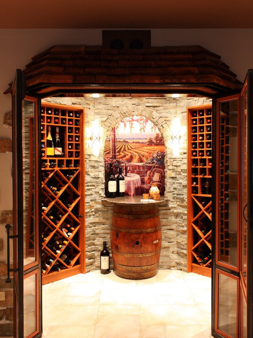 Wine cellar design ideas remodels photos with diamond bins - Penthouse peakmichael gallagher and new mood design ...