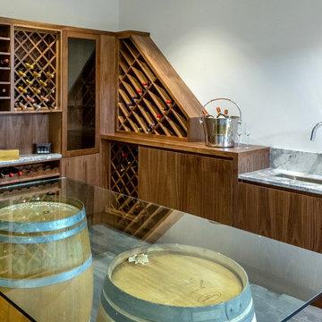 Wine Cellar -Beautiful Walnut Wine Cellar