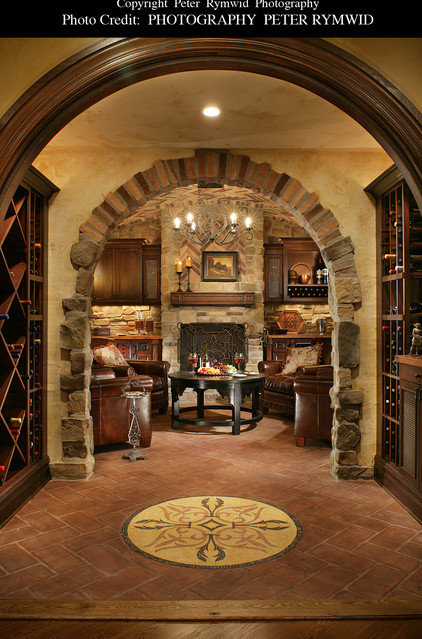 Traditional Wine Cellar by Carisa Mahnken Design Guild