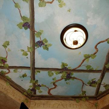 Wine Cellar Ceiling Mural