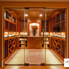 wine cellar by Charles River Wine Cellars