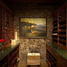 Traditional Wine Cellar by Chelsea Construction Corporation
