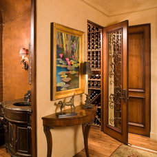mediterranean wine cellar by Choice Wood Company
