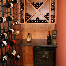 Traditional Wine Cellar by Barnard Woodworks, LLC