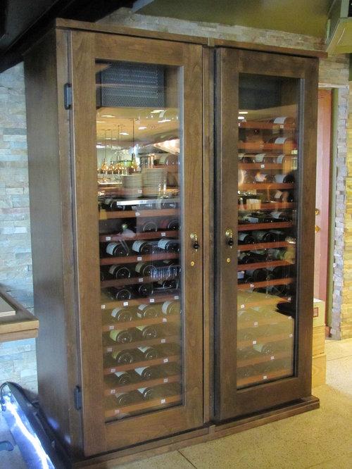 Transitional Wine Cellar Cabinets