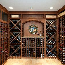 Traditional Wine Cellar by Cynthia Williams Architect