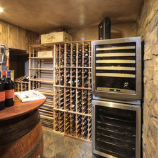Traditional Wine Cellar by Debbie R. Gualco