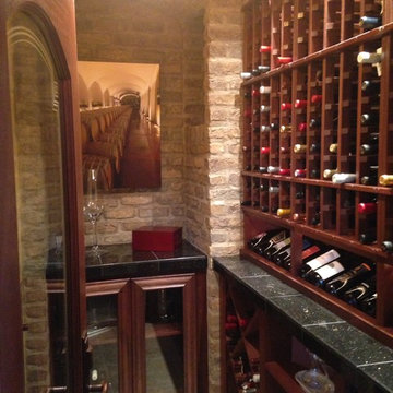 Wine Cellar - Designer Inspired and custom built by talented client.