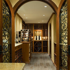 traditional wine cellar by Anthony Wilder Design/Build, Inc.