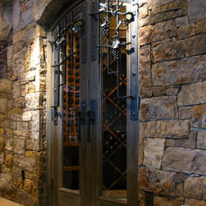 Contemporary Wine Cellar by Dragon Forge LTD