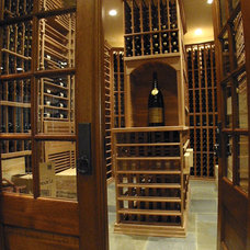 Traditional Wine Cellar by Dresser Homes