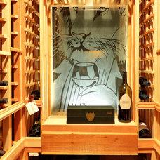 Mediterranean Wine Cellar by Echelon Custom Homes